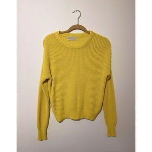 Urban outfitters knit yellow sweater